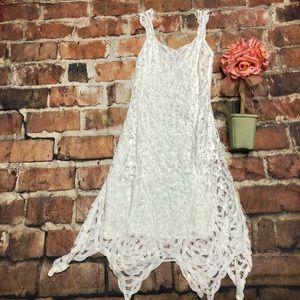 Stunning White House Black Market White Lace Dress